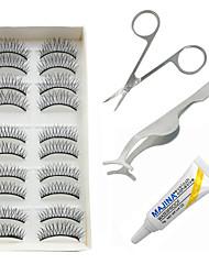 cheap -Eyelash Extensions Makeup Tools Eyelash Glue Fiber Daily Full Strip Lashes Crisscross - Makeup Daily Makeup Party Makeup Cosmetic Grooming Supplies