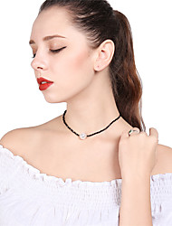 cheap -Women's Crystal Choker Necklace Chain Necklace Cute Crystal Imitation Pearl Black Necklace Jewelry For Party Going out