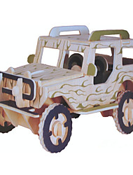 cheap -Toy Car Display Model Building Blocks Military Vehicle Stress and Anxiety Relief New Design Vehicles Military Car Wooden Chic & Modern Kid's Toy Gift