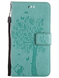 cheap -Case For OnePlus / One Plus 3 One Plus 5 / One Plus 3 / OnePlus Wallet / Card Holder / with Stand Full Body Cases Cat / Tree Hard PU Leather