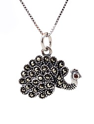 cheap -Women's AAA Cubic Zirconia Choker Necklace Pendant Necklace Peacock Vintage Fashion Sterling Silver Silver Necklace Jewelry For Gift Daily