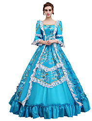 cheap -Cinderella Dress Cosplay Costume Masquerade Ball Gown Women's Victorian Medieval Renaissance Party Prom Christmas Halloween Carnival Festival / Holiday Lace Satin Blue Carnival Costumes Plus Size
