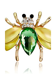 cheap -Women's Synthetic Diamond Brooches Pear Cut Animal Ladies Rhinestone Brooch Jewelry Rainbow For Party Stage