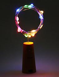 cheap -2m String Lights 20 LEDs Warm White / RGB / White Battery