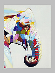 cheap -Hand-Painted Animal Vertical Panoramic,Artistic Abstract Cool One Panel Canvas Oil Painting For Home Decoration