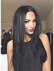 cheap -Synthetic Wig Straight Straight Wig Long Natural Black Synthetic Hair Women's Black