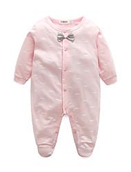 cheap -Baby Girls' Weekend Print Long Sleeve Overall & Jumpsuit Light Blue / Toddler
