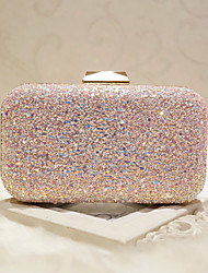 cheap -Women's Sequin Faux Leather Evening Bag Evening Bag White / Blushing Pink / Wedding Bags / Wedding Bags