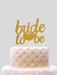 Недорогие -Украшения для торта Свадьба Сердца Бумага Свадьба с 1 Пластмассовая сумка