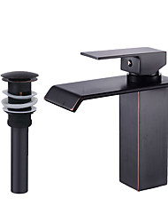 cheap -Faucet Set - Waterfall Oil-rubbed Bronze Centerset Single Handle One HoleBath Taps