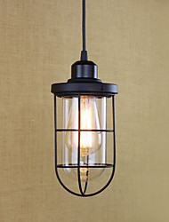 cheap -1-Light 11.5 cm Mini Style / Bulb Included / Eye Protection Pendant Light Metal Painted Finishes Retro