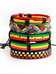 cheap -Men's Women's Leather Bracelet Star Fashion Hip-Hop Leather Bracelet Jewelry Rainbow For Stage Club