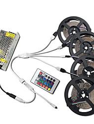 cheap -1PC Hkv 20M 4X5M Led Strip Light No Waterproof RGB Flexible SMD 3528 8mm RGB Lighting For IR 24Keys Remote Controller 8.5A Adapter DC 12V