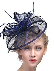 cheap -Women's Kentucky Derby Hat Mesh Fashion Acrylic Feather Party - Solid Colored