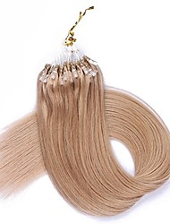 cheap -Micro Loop Ring Human Hair Extensions 10 Strands 16inch-22inch