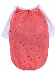 cheap -Dog Shirt / T-Shirt Vest Dog Clothes Crystal / Rhinestone Red Pink Chiffon Costume For Spring &  Fall Summer Men's Women's Party Birthday Holiday