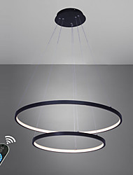 cheap -Ecolight™ 2-Light 60(24'') LED Pendant Light Metal Acrylic Circle Painted Finishes Modern Contemporary 110-120V / 220-240V