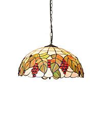cheap -3-Light Diameter 45cm Tiffany Pendant Lights Glass Lamp Shade Living Room Bedroom Dining Room Kids Room Light Fixture