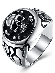 cheap -Women's Knuckle Ring Silver Stainless Steel Titanium Steel Personalized Hip-Hop Halloween Street Jewelry Skull family crest