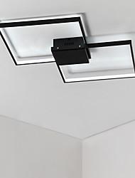 abordables -Luminaire linéaire linéaire à 2 lampes, à encastrer, fini à la lumière ambiante, finitions peintes en aluminium mat, multi-abat-jour, ampoule incluse 110-120v / 220-240v blanc chaud / blanc froid / di