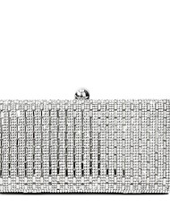 cheap -Women's Bags PU Leather Evening Bag Crystals Wedding Bags Wedding Party Event / Party Black Gold Silver