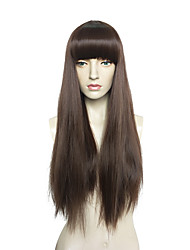 cheap -Synthetic Wig Straight Bob Wig Very Long Brown Synthetic Hair Women's Brown