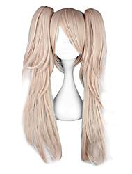 abordables -Dangan Ronpa Junko Enoshima Perruques de Cosplay Femme 26 pouce Fibre résistante à la chaleur Manga