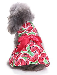cheap -Cat / Dog Coat / Dress / Tuxedo Dog Clothes Fruit Red Cotton Costume For Pets Party / Casual / Daily / Wedding