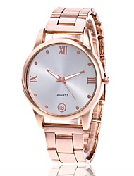 cheap -Men's Women's Wrist Watch Gold Watch Quartz Metal Silver / Gold / Rose Gold Casual Watch Analog Charm Classic Dress Watch - Gold Silver Rose Gold