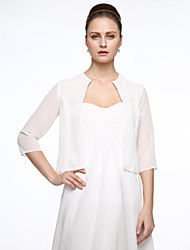 cheap -Half Sleeve Polyester / Chiffon Wedding / Party / Evening Women's Wrap With Embroidery Coats / Jackets