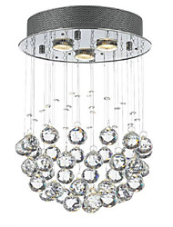 cheap -QINGMING® 3-Light 30 cm Crystal / Mini Style / Designers Flush Mount Lights Metal Electroplated Traditional / Classic 110-120V / 220-240V / GU10