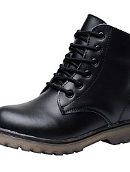 cheap -Boys' Comfort / Combat Boots Leather Boots Little Kids(4-7ys) / Big Kids(7years +) Lace-up Black Fall / Winter / Booties / Ankle Boots / TPR (Thermoplastic Rubber) / EU36