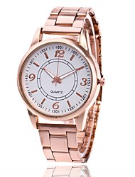 cheap -Women's Wrist Watch Gold Watch Quartz Metal Silver / Gold / Rose Gold Casual Watch Analog Ladies Charm Casual Fashion - Gold Silver Rose Gold