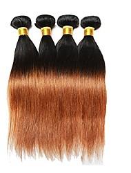cheap -4 Bundles Brazilian Hair Straight Remy Human Hair Human Hair Weaves Human Hair Extensions / 10A