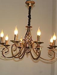 cheap -8-Light 72 cm Candle Style Chandelier Metal Retro Vintage 110-120V / 220-240V
