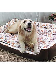 Недорогие -Собака Матрас Кровати Одеяла Коврики и подушки Хлопок Сохраняет тепло Геометрический принт Бежевый Розовый Верблюжий
