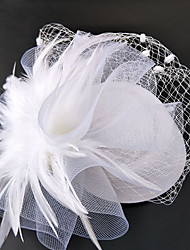 cheap -Net Fascinators / Hats / Headwear with Floral 1pc Wedding / Special Occasion Headpiece