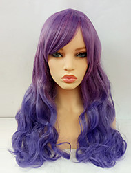 cheap -Cosplay Costume Wig With Bangs Wig Long Purple Synthetic Hair Women's Purple / Ombre Hair