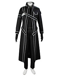 cheap -Inspired by SAO Alicization Kirito Anime Cosplay Costumes Japanese Cosplay Suits Solid Colored Coat Shirt For Men's