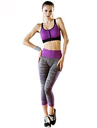 cheap -Women's Sports Bra With Running Pants Track Pants Sports Pants High Rise Yoga Sportswear Quick Dry Breathability Stretchy Clothing Suit Activewear Stretchy