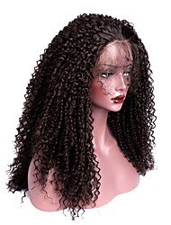 cheap -Synthetic Lace Front Wig Kinky Curly Kinky Curly with Baby Hair Lace Front Wig Long Dark Brown Synthetic Hair Women's Brown EEWigs