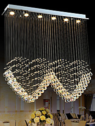 cheap -6-Light 100 cm Crystal Bulb Included Designers Chandelier Metal Electroplated Chic & Modern 110-120V 220-240V