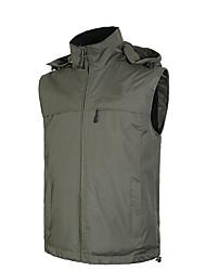 cheap -Men's Women's Hiking Vest / Gilet Fishing Vest Winter Outdoor Windproof Warm Vest / Gilet Fleece Full Length Hidden Zipper Running Camping / Hiking Fishing Black / Dark Grey / Dark Green / Royal Blue