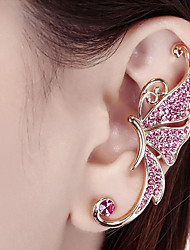 cheap -Women's Synthetic Diamond Clip on Earring Fashion Cute Rhinestone Earrings Jewelry Gold / White / Light Pink For Party Stage