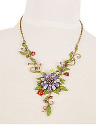cheap -Women's Y Necklace Flower Rhinestone Alloy Gold Necklace Jewelry For Gift Going out