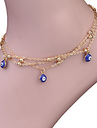 cheap -Women's Anklet Evil Eye Ladies Vintage Bohemian Fashion Boho Anklet Jewelry Gold For Gift Casual