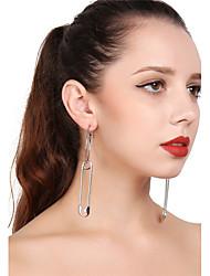 cheap -Women's Drop Earrings Hoop Earrings Oversized Earrings Jewelry Gold / Silver For Casual Club