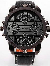 cheap -Men's Fashion Watch Dress Watch Wrist Watch Quartz Leather Analog Black Red Blue