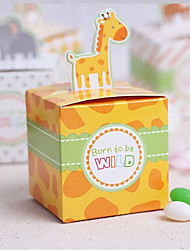 cheap -Cubic Card Paper Favor Holder With Favor Boxes Wedding Favors
