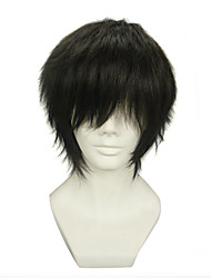 cheap -Blue Exorcist Juzo Shima Cosplay Wigs Men's 12 inch Heat Resistant Fiber Anime Wig